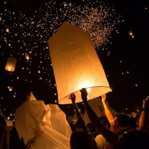 CHIANGMAI THAILAND NOVEMBER 16  : thai people launching sky lant